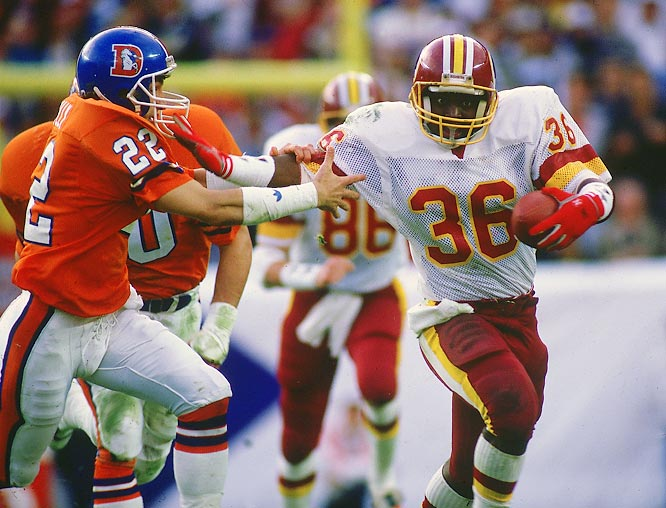Smith got a chance to start in the Super Bowl when injuries caught up with aging incumbent George Rodgers. And the rookie running back made the most of his opportunity, exploding for a record 204 yards on the ground, including a luminescent 58-yard touchdown gallop to give the Redskins a two-touchdown edge in the second quarter.