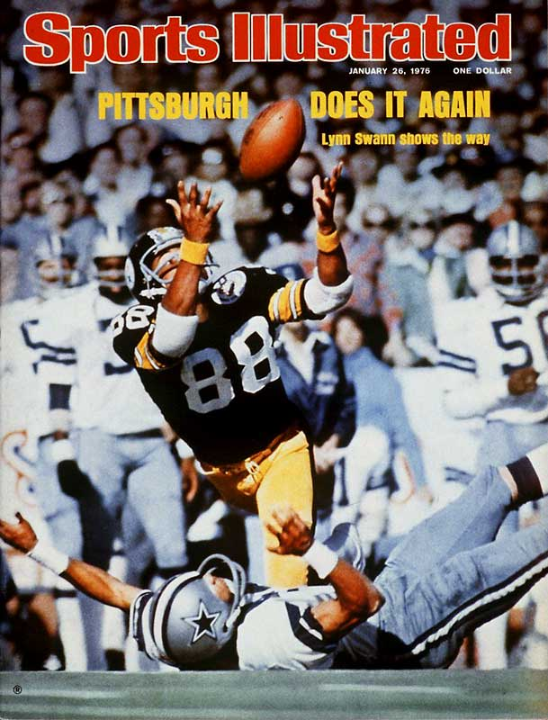 Swann became the first wide receiver to earn the Super Bowl MVP award with his standout performance in Pittsburgh's 21-17 victory over Dallas. The wideout brought down four acrobatic catches for a game-record 161 yards, including the decisive 64-yard touchdown grab in the fourth quarter to give the Steelers a 21-10 advantage.