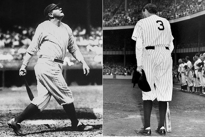 Ruth didn't wear No. 3 regularly, nor did Lou Gehrig wear his famous No. 4 until Opening Day 1929, when the Yankees officially decided to wear numbers. By then, the Bambino was a legend.<br><br>Runner-up: Jimmie Foxx (Philadelphia Athletics, Red Sox)<br><br>Worthy of consideration: <br>Earl Averill, Harold Baines, <br>Kiki Cuyler (Cubs), Harmon Killebrew, Dale Murphy, Alex Rodriguez (Mariners and Rangers) and Bill Terry