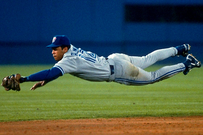 On the short list for the game's greatest second baseman, the 12-time All-Star led the Blue Jays to consecutive World Series titles in 1992 and 1993. Alomar finished his career with 2,724 hits.<br><br>Runner-up: Willis Hudlin<br><br>Worthy of consideration: <br>Wade Boggs (Rays)