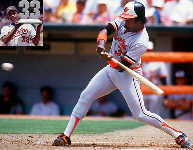 Quiet and taciturn with the press, Murray made noise with his bat. He was a seven-time All-Star with the Orioles (he also made an appearance as a Dodger) and finished his career with 3,255 hits, 504 home runs and 1,917 RBIs.<br><br>Runner-up: Johnny Vander Meer<br><br>Worthy of consideration:<br> Mike Scott, Jason Varitek, and Larry Walker
