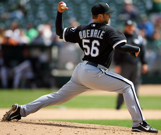 During the 2005 season, the workhorse left-hander helped the White Sox to the franchise's first World Series victory since 1917. A three-time All-Star, Buehrle twice led the American League in innings pitched and tossed a no-hitter last April.<br><br>Runner-up: Jim Bouton (Yankees)<br><br>Worthy of consideration: <br>Jarrod Washburn