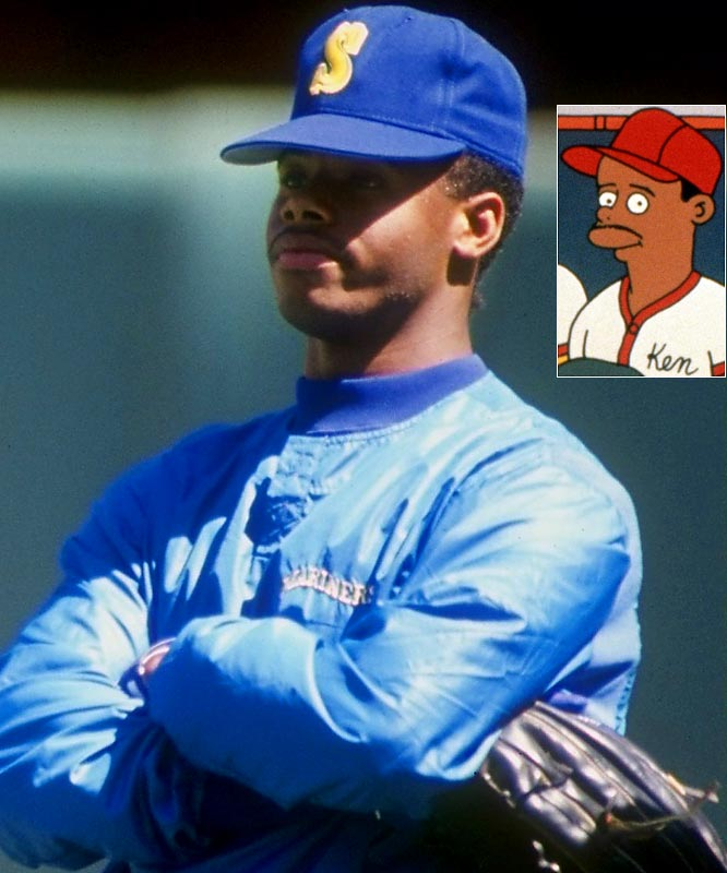 "Griffey is well on his way to Cooperstown, but he's already in the Hall of Fame of best guest appearances on The Simpsons. Playing himself in a 1992 episode ""Homer at the Bat,"" Griffey becomes a ringer on the company softball team (along with other stars like Wade Boggs, Ozzie Smith and Darryl Strawberry), but an extreme case of gigantism knocks him out of the big game."