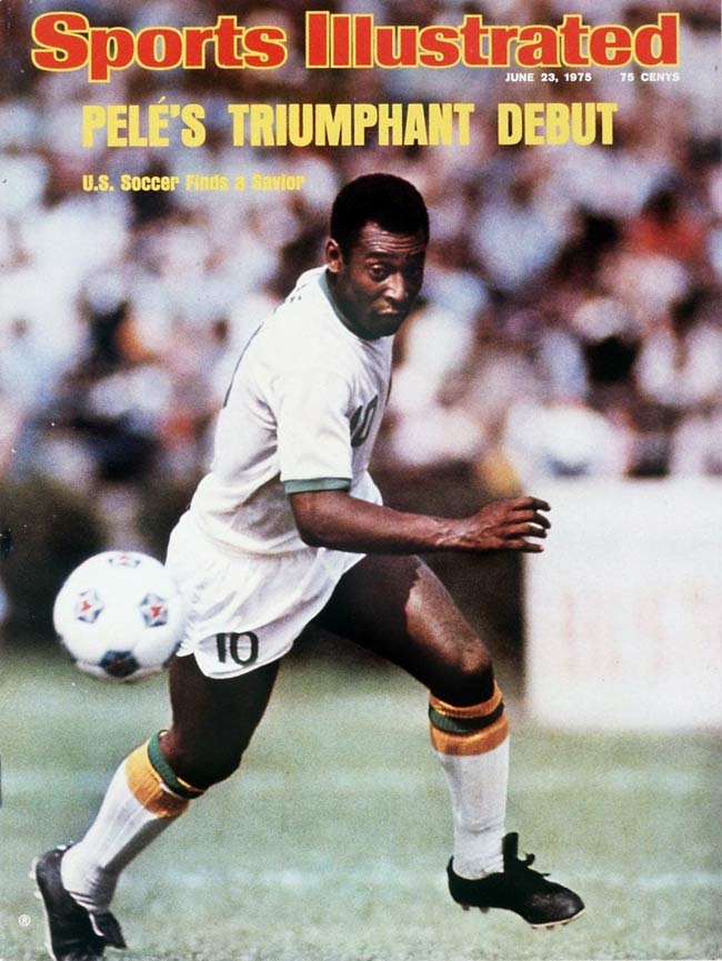 Pele signs a three-year contract with the U.S.-based Cosmos. He would play for three seasons and win the NASL Championship in his final season with the club.