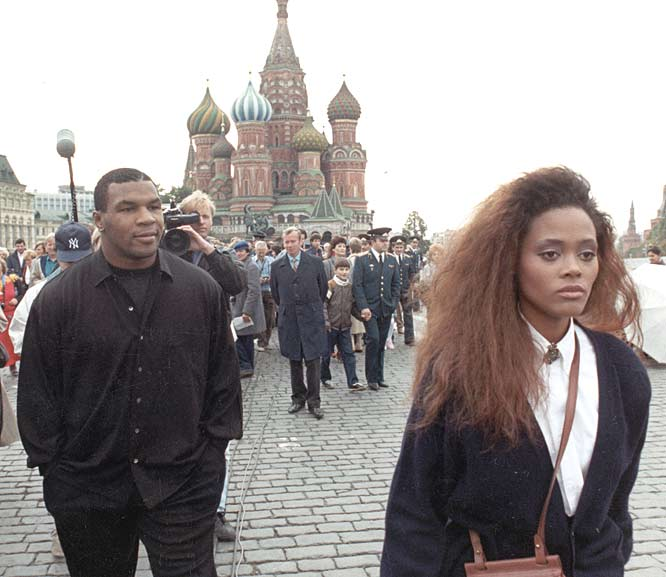 <p>As the turbulent marriage of Mike Tyson and Robin Givens reaches its fourth month, Givens' sister, Stephanie, tells the press that Tyson mistreats Robin.</p>