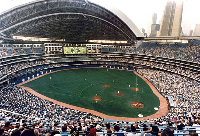 The Toronto Blue Jays' new home, SkyDome, opens. With its retractable roof, the stadium is considered one of the most advanced ballparks of its time.