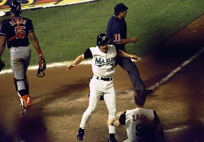 Counsell filled in well at second base, batting .299 for the regular season. He played a huge role in the Marlins' Game 7 World Series win, driving home the tying run in the ninth and scoring the winning run in the 11th. The Marlins only had to give up pitcher Mark Hutton for him.