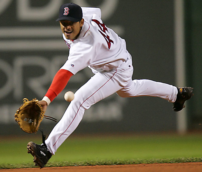 A blockbuster, four-team deal sent Nomar Garciaparra to the Cubs and brought shortstop Orlando Cabrera to Boston. It would be Cabrera who would have the greatest impact on his new team as he hit .294 and solidified the Red Sox's weak defensive infield. Against the Yankees in the ALCS, Cabrera hit .379 with an OBP of .424 as Boston won the AL pennant and went on to win the World Series.