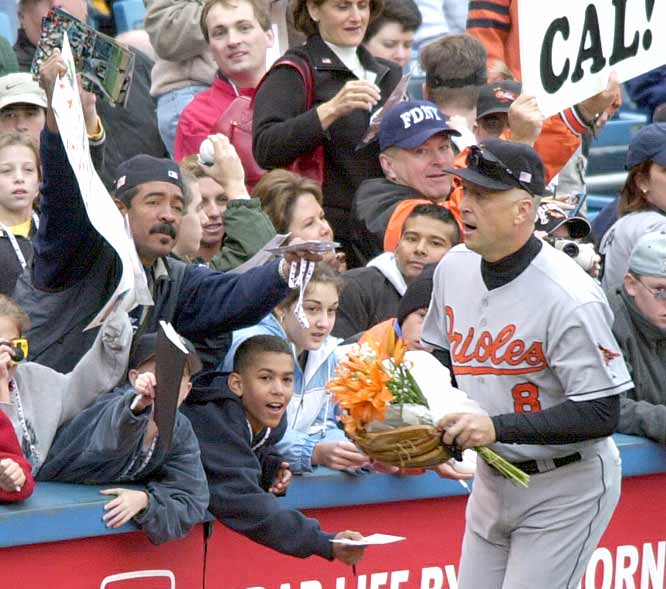 In his final All-Star appearance, Cal Ripken Jr. is named the MVP after his home run powered the AL to its fifth victory in a row, beating the National League at Seattle's Safeco Field, 4-1.