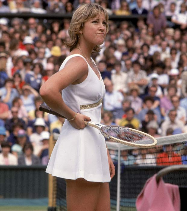 Chris Evert wins Wimbledon, beating Evonne Goolagong in three sets (6-3, 4-6, 8-6).
