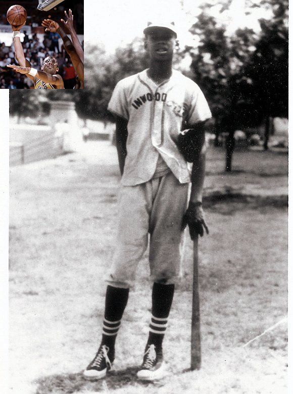 Kareem Abdul-Jabbar, the all-time leading scorer in NBA history and a member of the Basketball Hall of Fame, also had game on the baseball diamond. Abdul-Jabbar, who was named Lew Alcindor at the time, played Little League Baseball in New York City's Inwood Little League.