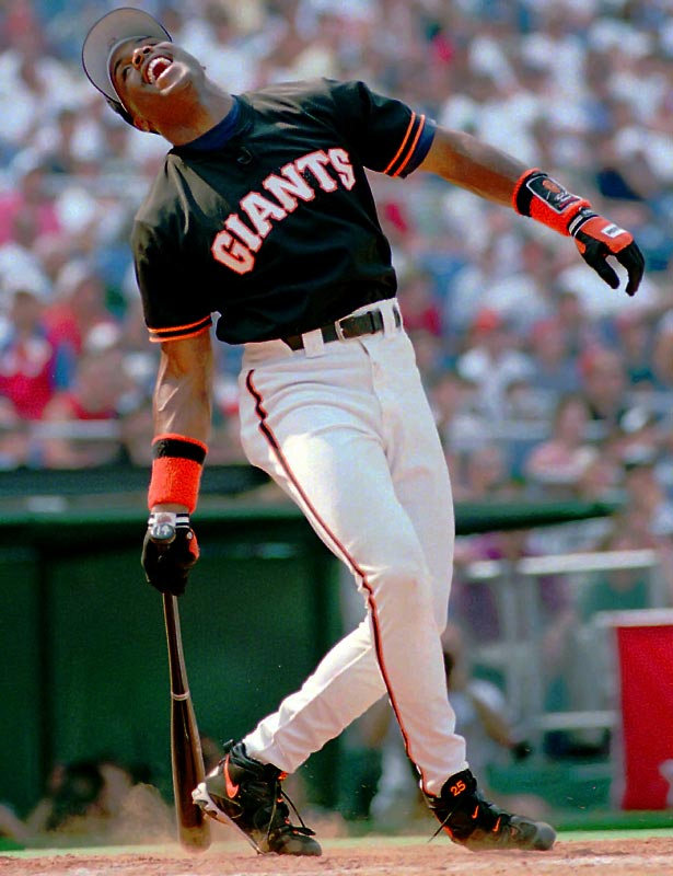 Future Home Run King Barry Bonds took home his only Derby crown in 1996 at Philadelphia's Veterans Stadium long before any rumors of performance-enhancing drugs surfaced.