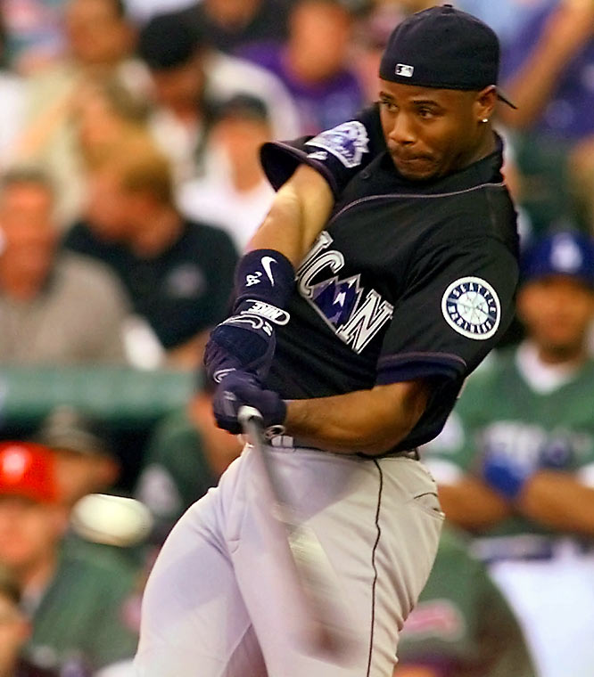 Ken Griffey Jr. became the only multi-time winner of the Derby by edging Jim Thome, 19-17, at Coors Field in 1998.