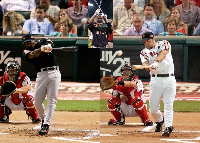 At Minute Maid Park in Houston for the 2004 Derby, Baltimore's Miguel Tejada topped hometown favorite Lance Berkman in the final round with five home runs and an overall total of 27.