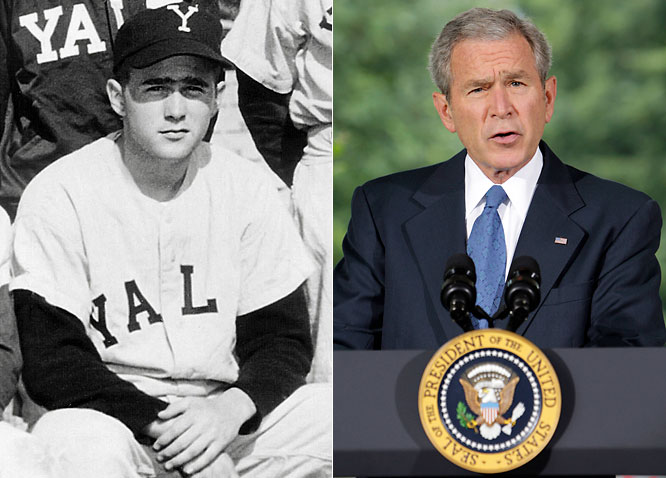 Baseball is in his blood. Before becoming the 43rd President of the United States, Bush was a second baseman at Yale and a part-owner of the Texas Rangers.