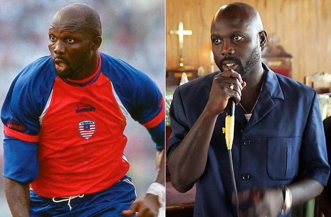 """The Liberian soccer legend was known as """"the King"""", had a successful career in Europe and was the first African to be named the world's best player, in 1995. In 2005, he lost a runoff for president in his native country."""
