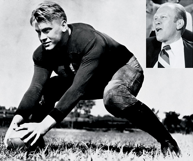 A hero of the Michigan football team before taking over for Nixon, Ford was named the Wolverine's MVP after his senior year.