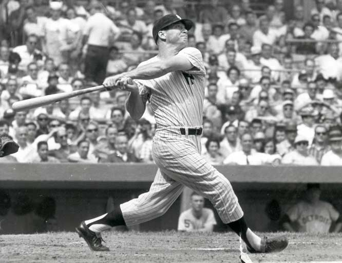 In his first at-bat in two months after breaking his left foot, Mickey Mantle slams a pinch-hit home run in the ninth inning to beat the Orioles, 11-10.
