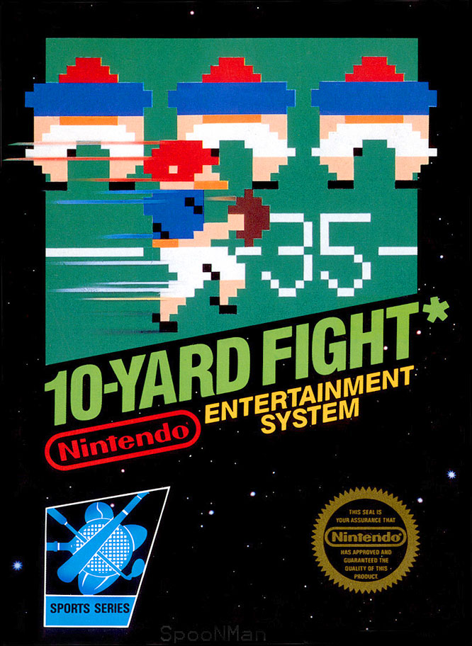 This arcade port was one of the first and best-known football titles for the wildly popular NES console.