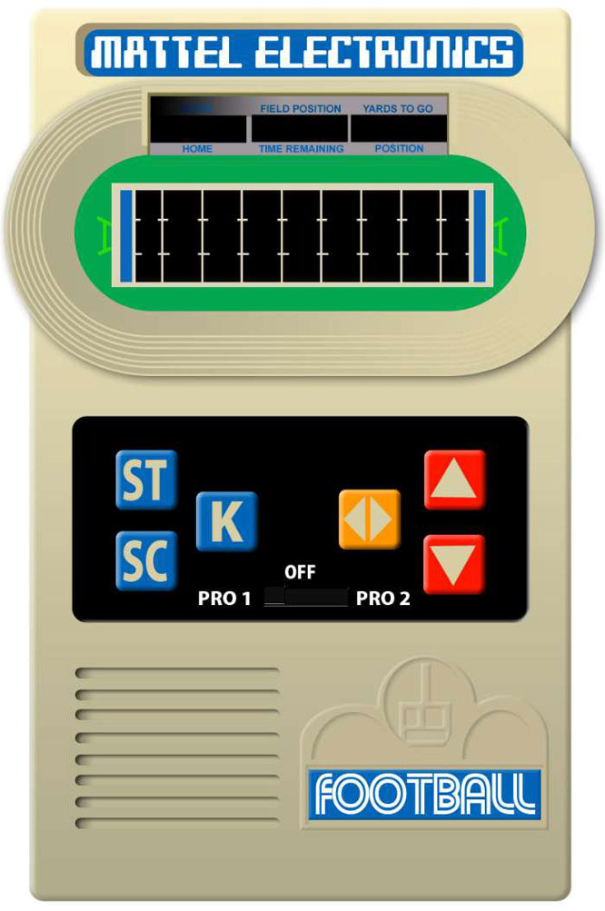 Running on a 9-volt transistor battery, this pocket handheld unit proved popular beyond Mattel's initial expectations, selling 500,000 units in its first year.