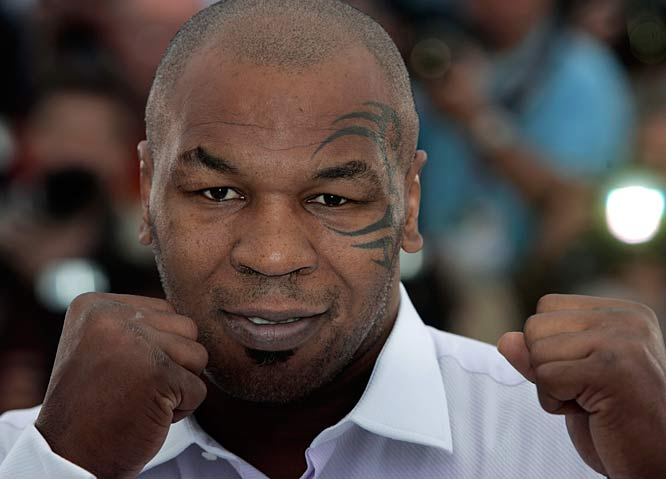 Following a fight with then-wife Robin Givens, Mike Tyson crashes his silver BMW into a tree near the Catskills, NY.