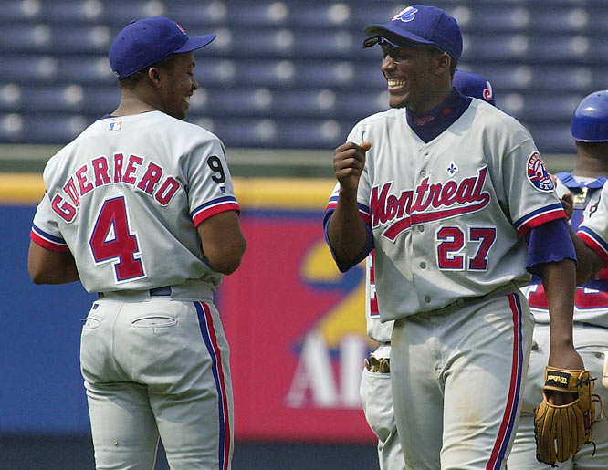 Expos Vladimir and Wilton Guerrero both homer in the same game. The brothers join Hank and Tommie Aaron, Matty and Jesus Alou, Aaron and Bret Boone, Billy and Tony Conigliaro, Al and Tony Cuccinello, Rick and Wes Farrell, Graig and Jim Nettles, Cal and Billy Ripken and Paul and Lloyd Waner as siblings who have gone yard in the same game.