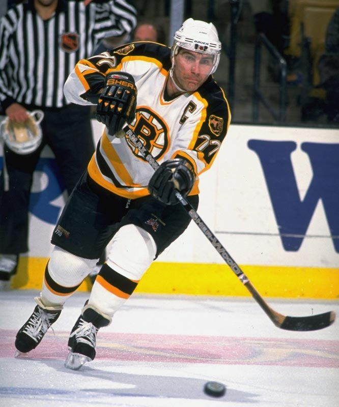 Boston's Ray Bourque becomes the fifth defenseman in NHL history to play in 1,300 regular-season games.