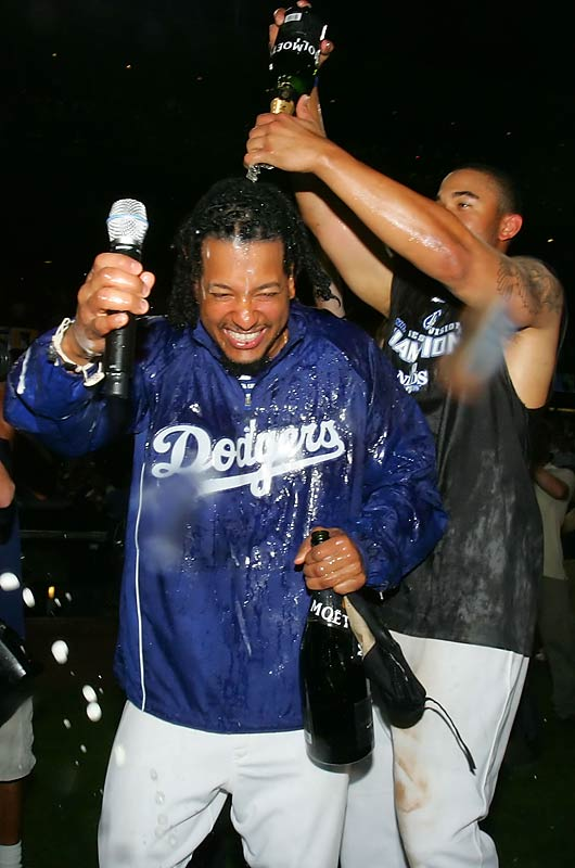 Clinching NL West title against the Padres.