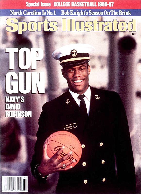David Robinson, who will be inducted into the Hall of Fame on Sept. 11, spent four years at Navy before being selected by the San Antonio Spurs with the No. 1 pick in the 1987 NBA draft. After completing his two-year commitment to the Navy, the Admiral joined the Spurs in 1989.