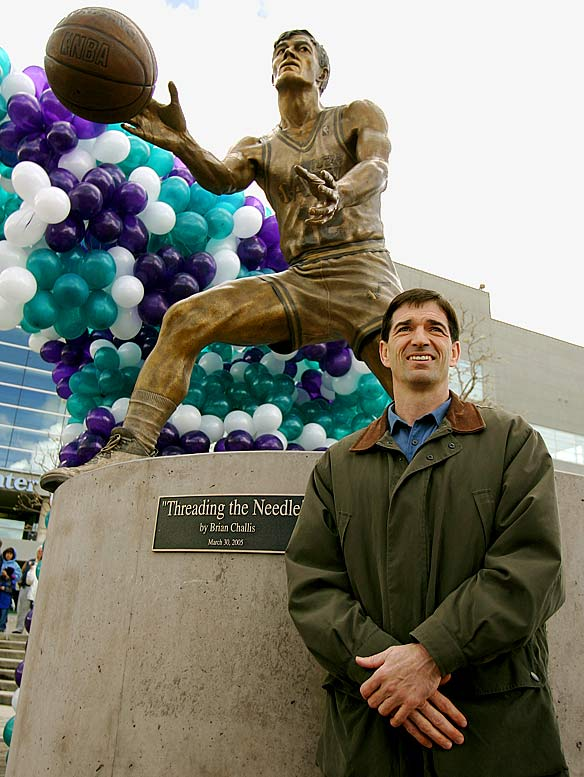 In addition to retiring Stockton's jersey in November 2004, the Jazz erected a statue in his honor outside their arena.