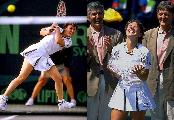 Martina Hingis, 16, becomes the youngest women's tennis player to reach the world No. 1 mark.
