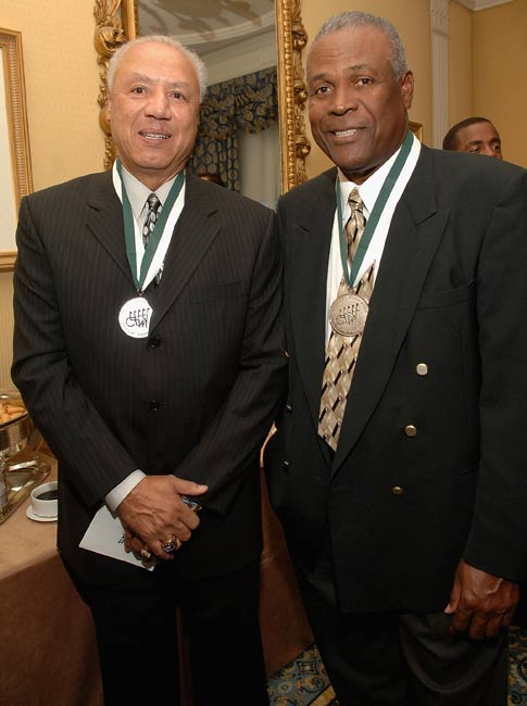 Former NBA legends Lenny Wilkens and K. C. Jones are  among three men inducted into the Naismith Memorial Basketball Hall of Fame. Wilkens would get the call from the Hall again 10 years later, when he was inducted as a coach.