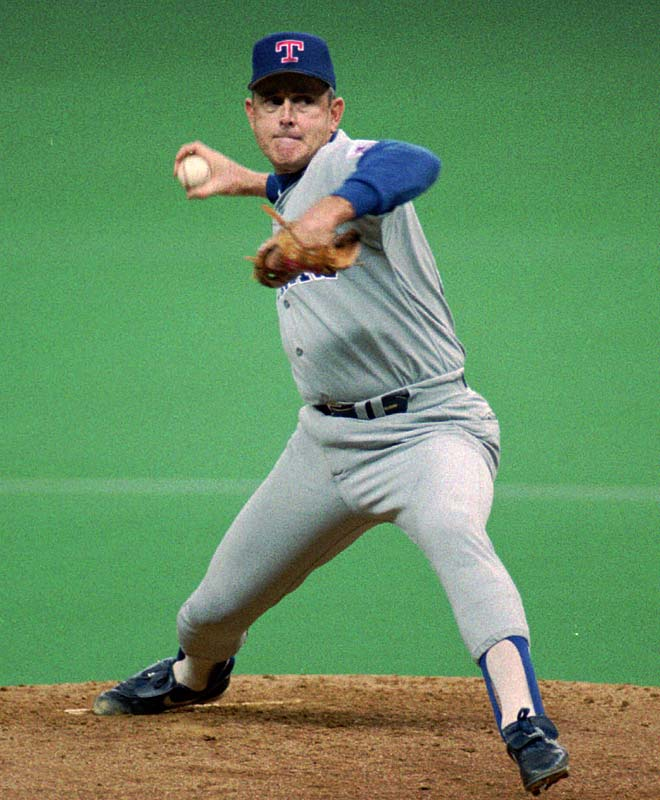 Nolan Ryan becomes the strikeout king, passing Walter Johnson with 3,509 Ks.