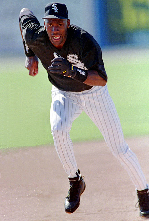 Jordan, pictured here during a base-running drill, was one of only six Double A players to finish with 30 stolen bases and 50 RBIs. But he hit only .202 with three home runs in 127 games.