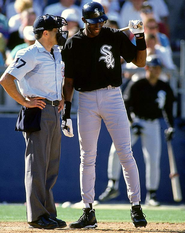 "During spring training, Jordan referred to an umpire as ""the ref."" Once the games counted, the 6-foot-6 Jordan struck out 114 times in 436 at-bats for Birmingham."