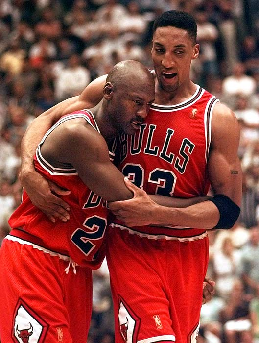 With the 1997 NBA Finals tied at 2-2, a flu-ridden Jordan scored 38 points in Chicago's victory in Game 5 at Utah. The Bulls won Game 6 to clinch their fifth championship.