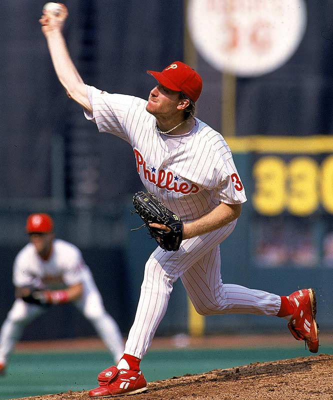 The Phillies acquire Curt Schilling from Houston in exchange for Jason Grimsley. Schilling will play nine seasons in the City of Brotherly Love, becoming the team's ace, while Grimsley will never throw a pitch in an Astros uniform.