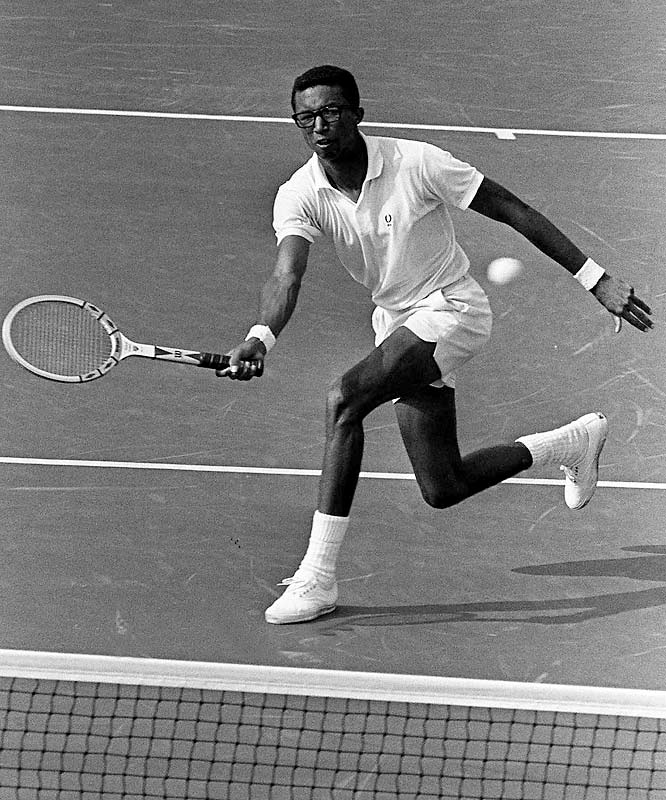 Retired tennis great Arthur Ashe announces that he has AIDS, acquired from blood transfusions during one of his two heart surgeries.