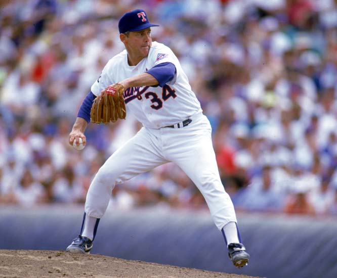 Nolan Ryan becomes the oldest pitcher to start and win an Opening Day game as the Rangers win their home opener against the Red Sox, 3-1.