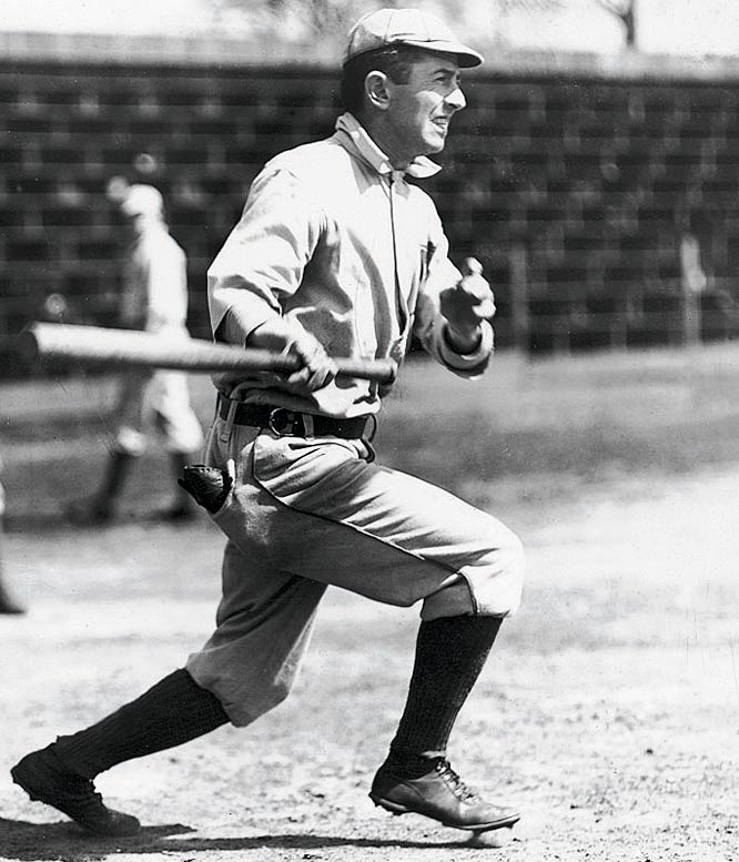 "It's not hard to believe that the man who coined the timeless adage ""Hit 'em where they ain't"" and who perfected the ""Baltimore Chop"" held the hit-streak record for 44 years. Keeler, who had a hit in 45 straight games in 1897, batted over .300 16 times in his career and ranks 14th on the all-time list with a .341 career average."