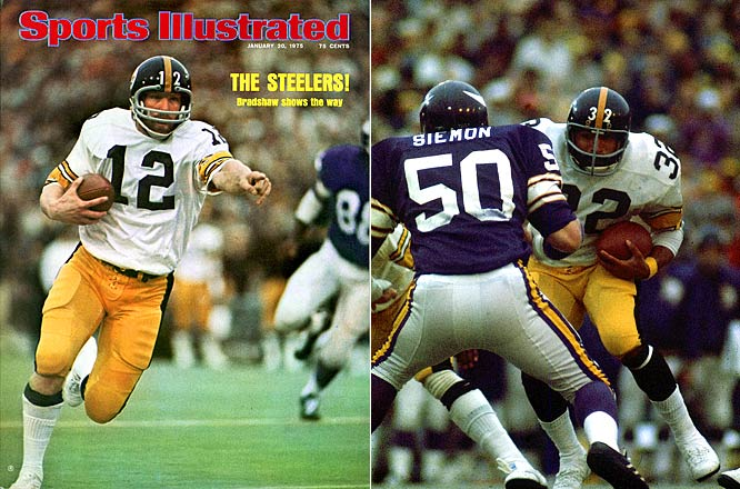 In their first-ever Super Bowl appearance, the Steelers came back from a weak first-half performance to top the Vikings.  With his team ahead only by three, Terry Bradshaw led a 66-yard, 11-play drive and put the nails in the Vikings' coffin with a four-yard pass to Larry Brown with 3:31 remaining. The true hero of the game was Franco Harris, who finished with a record 158 yards on 34 carries.