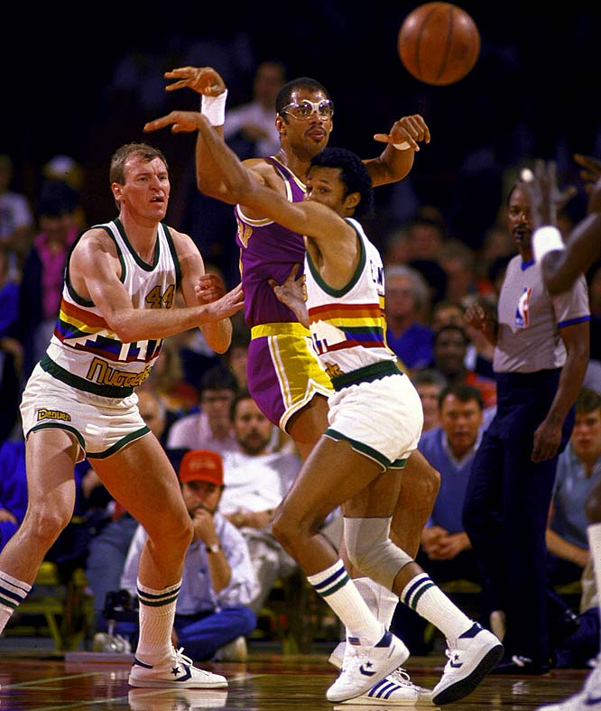 Denver wasn't the only team that struggled to find an answer for Abdul-Jabbar. The Lakers' center was awarded Finals MVP honors after leading L.A. past Boston in six games.