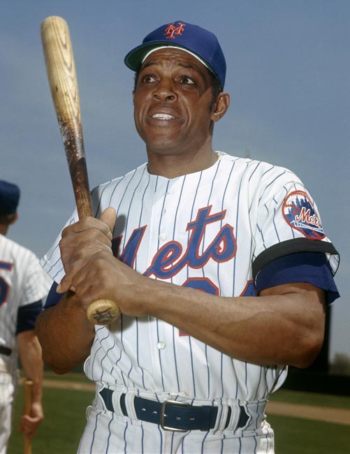 After 21 seasons with the Giants in New York and San Francisco, 41-year-old Willie Mays makes a dramatic debut for his new team as he hits a game-winning home run off his former team, giving the Mets a 5-4 victory.