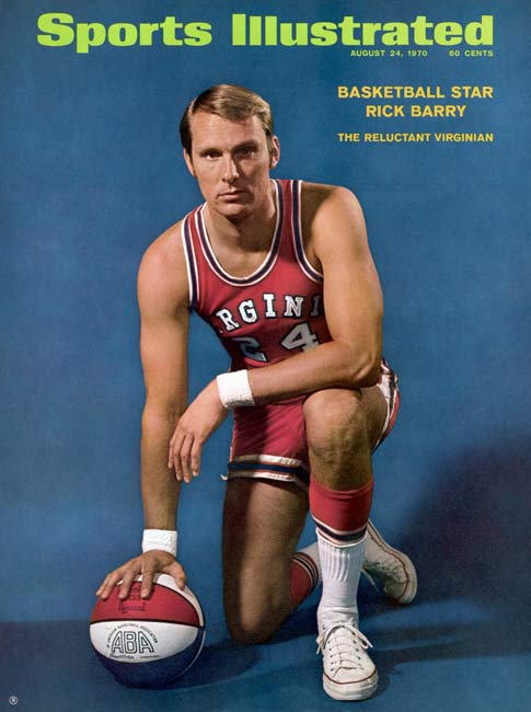 NBA legends Rick Barry (pictured), Walt Frazier and Pete Maravich are among five men inducted into the Naismith Memorial Basketball Hall of Fame.