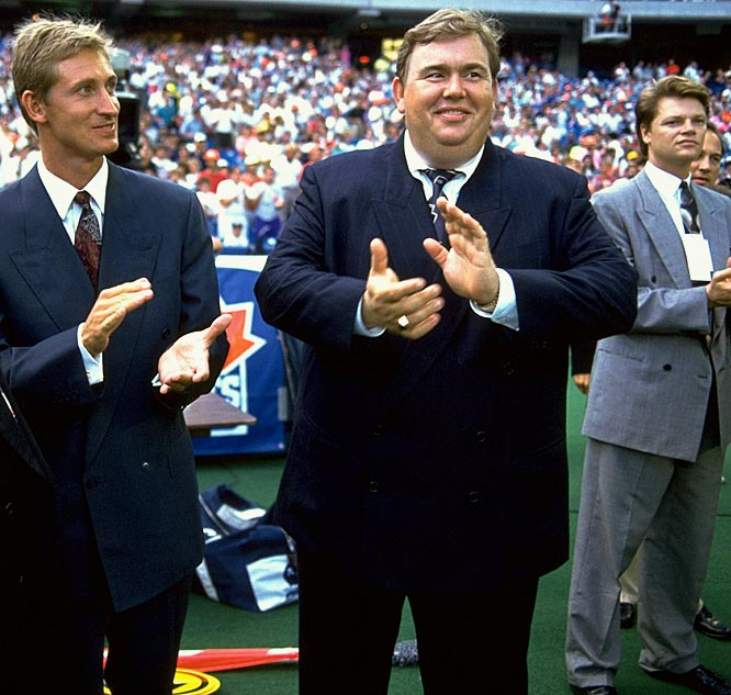 Canadian comedian John Candy became a part owner of the Toronto Argonauts in 1991 alongside hockey great Wayne Gretzky and sports executive Bruce McNall.  The trio of celebrity owners led the Argonauts through a stellar season and to the 1991 Grey Cup.