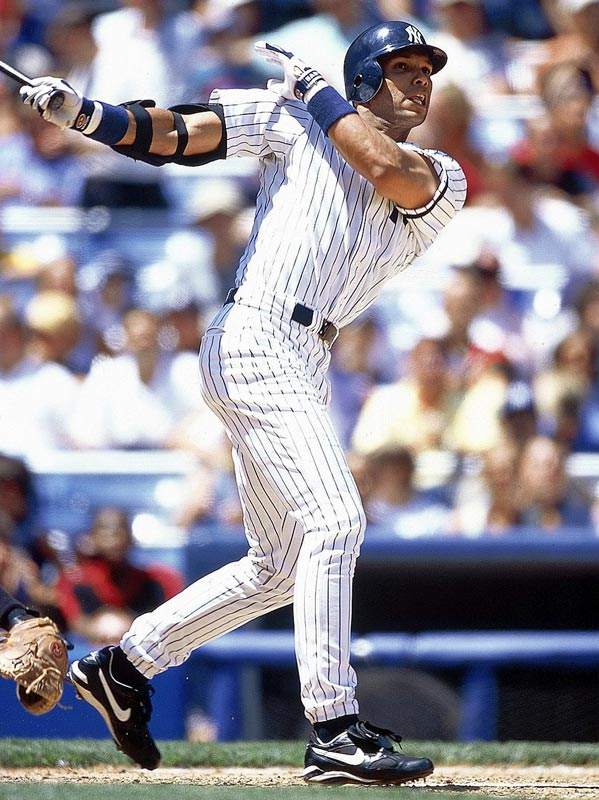 After trying to trade for Juan Gonzalez and Sammy Sosa to bolster their failing offense, the Yankees acquire David Justice from the Indians for Ricky Ledee and two players to be named later.