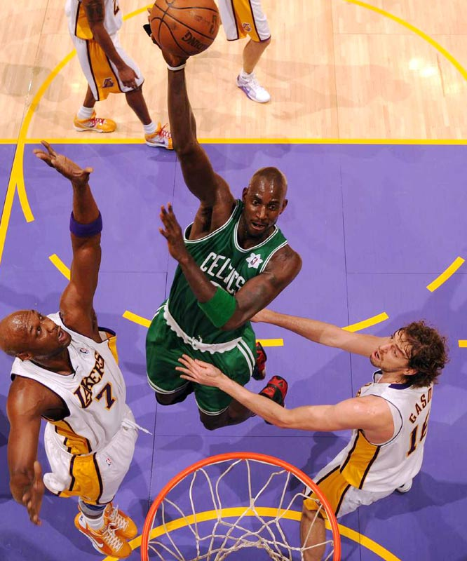 Minnesota took an enormous risk in picking Garnett so high -- players without college experience being unproven products in '95 -- and he turned into one of the most influential big men of his era. Scottie Pippen, Dwyane Wade, Walt Frazier, Charles Barkley and Ray Allen were also No. 5 picks, but Garnett's dominance in virtually all phases of the game sets the standard here.