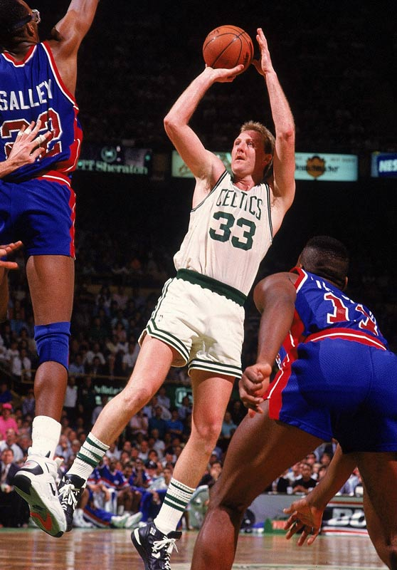 So valuable was Bird that Auerbach drafted him before his final season at Indiana State, exploiting a loophole that has since been closed. When Bird showed up in Boston one year later, he proved that he was worth the wait.