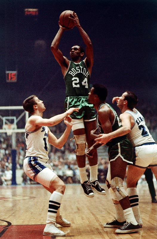 Originally chosen by the Minneapolis Lakers a year earlier, the 6-4 Jones reentered the draft after military service and became the Celtics' version of Mr. Clutch, hitting huge playoff shots in a 12-year career that included 10 NBA championships. Nineteen years after Jones' selection, the Warriors turned the No. 8 pick into Robert Parish, who also helped deliver championships to Boston.