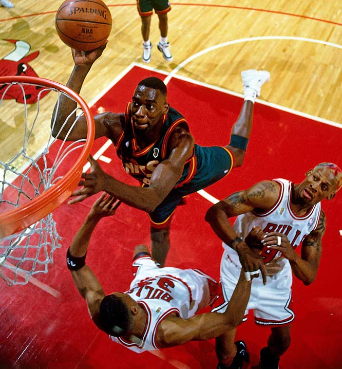 Entering the NBA as the youngest player in the league, the 6-10 Kemp turned into a six-time All-Star who joined with guard Gary Payton to lead Seattle to the 1996 Finals. He averaged 16.8 points and 9.5 rebounds over his 11-year career. He may be challenged in this slot someday by Danny Granger, a 2005 pick of the Pacers who was named the NBA's Most Improved Player while averaging 25.8 points as an All-Star in 2008-09.